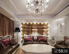 欧式新古典风格餐厅软包背景墙装饰效果图