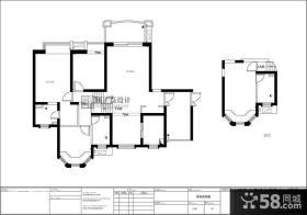 170平米复式楼平面户型图