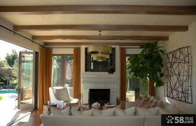 美式乡村风格家装客厅图片
