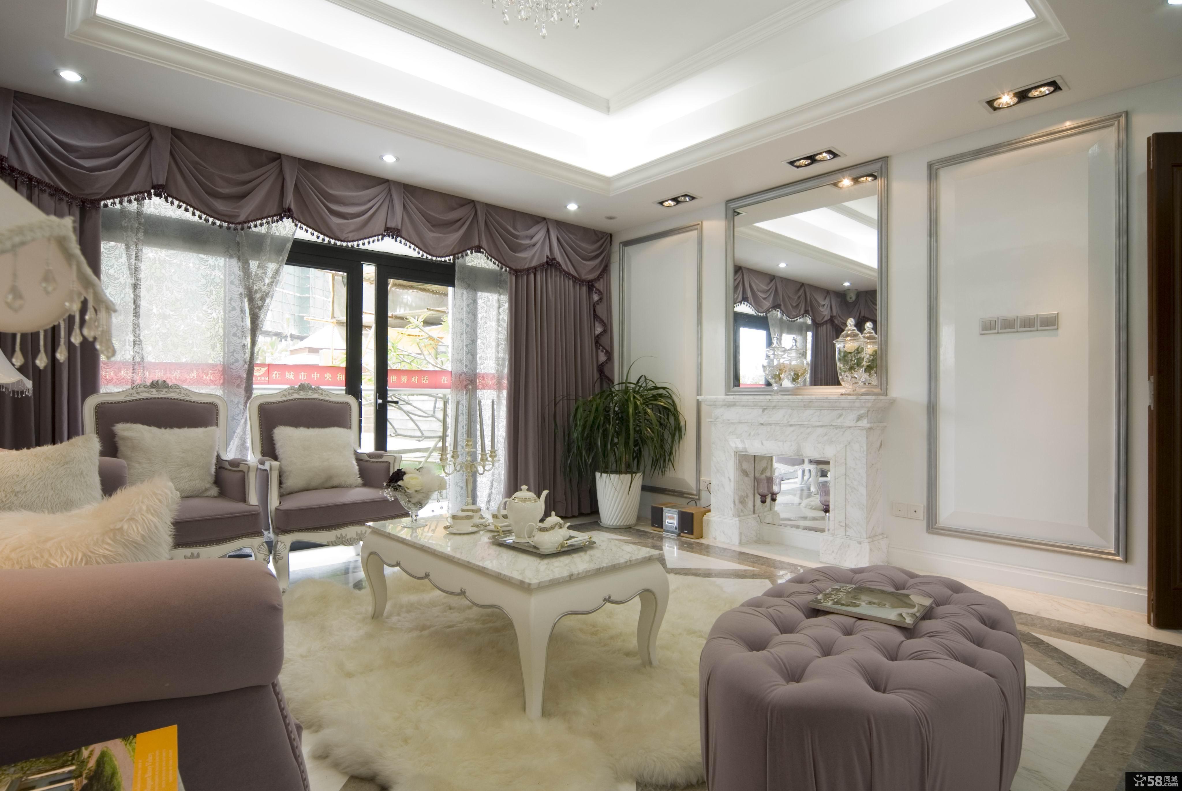 【欧式客厅地毯效果图】 - 58同城装修效果图大全