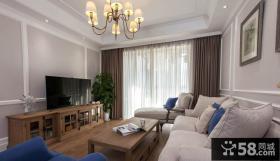 简约美式风格家居客厅装修效果图