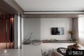 北欧风格室内客厅电视背景墙图片