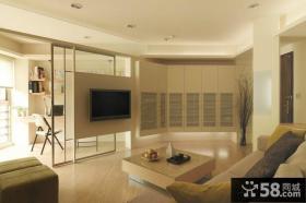 简约风格隔断式电视背景墙装修