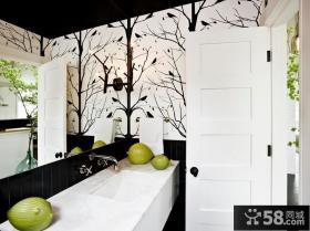 2013复式楼家庭洗手间装修效果图