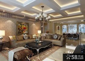 优质欧式客厅吊顶装修图片