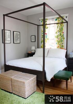 田园风格卧室木床图片欣赏