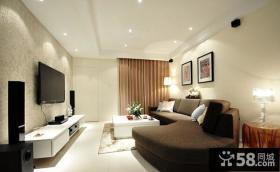 2012简欧客厅装修效果图 电视机背景墙效果图