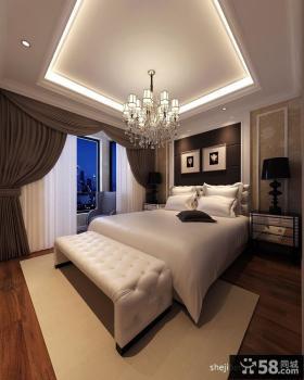 四室两厅两卫主卧室装修效果图 卧室窗帘装修图片