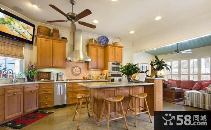 敞开式厨房装修效果图大全2015图片