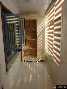 封闭式阳台储物柜装修效果图大全