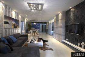 现代风格二居客厅电视背景墙效果图
