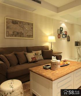 时尚美式风格两居室设计装修效果图