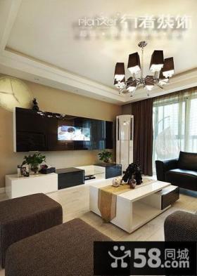 简约风格两室两厅客厅吊顶装修效果图大全2014