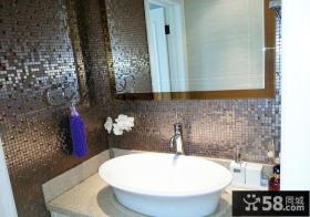 家庭卫生间洗手盆效果图