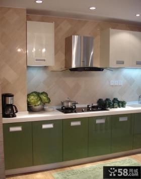 现代简约厨房橱柜颜色效果图
