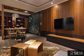 中式风格简约电视背景墙设计图