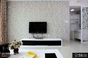 简约电视背景墙瓷砖装修效果图大全