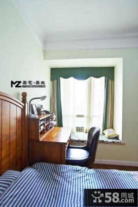 美式风格儿童房间飘窗装修图片