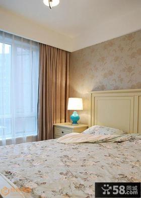 现代美式风格卧室床头灯具设计图片