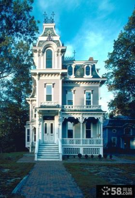 三层欧式别墅外观设计图片