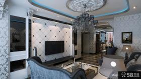 客厅电视背景墙效果图 欧式客厅吊顶效果图