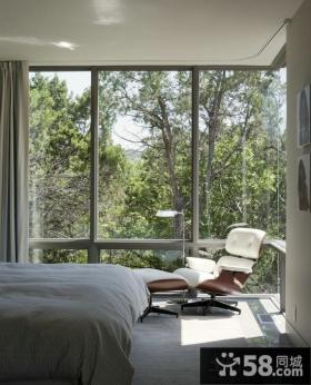 北欧设计家装卧室窗户图片