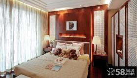 新中式风格卧室装修效果图片