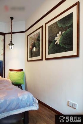 小空间卧室墙面装饰书画