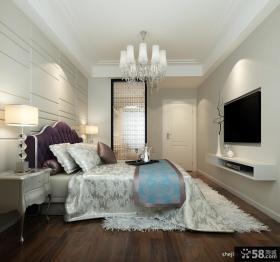 主卧室电视背景墙效果图