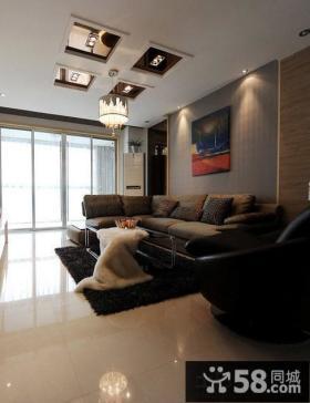 简约风格客厅吊顶设计效果图
