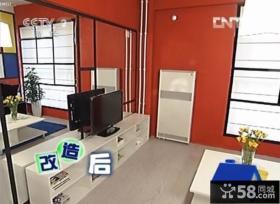 交换空间现代色彩电视玻璃背景墙装修效果图