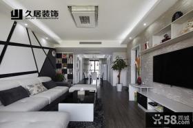 现代客厅家装壁纸电视背景墙效果图