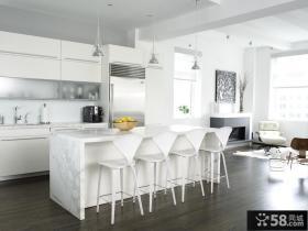 简约风格起居式厨房装修效果图