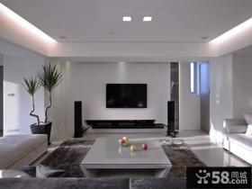 奢华现代客厅电视背景墙室内装饰效果图