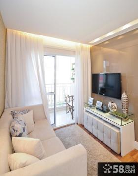 简单客厅电视背景墙设计