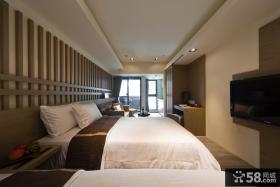 36平一室一厅样板房卧室装修效果图