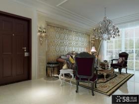 欧式客厅沙发背景墙设计效果图