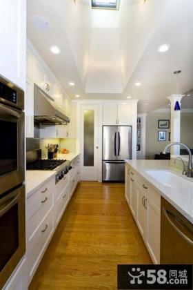 欧式风格开放式厨房吧台装修设计