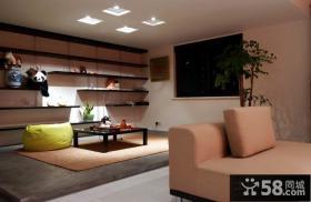 简约小复式客厅休闲区装饰效果图