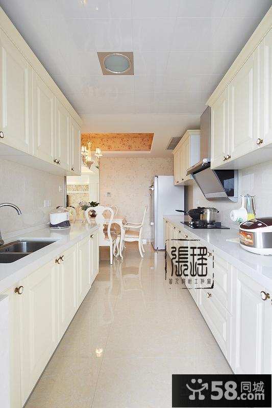 欧式长方形厨房装修效果图片