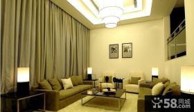 现代简约客厅吊顶效果图大全图片