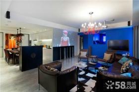 混搭现代室内设计客厅电视背景墙图片