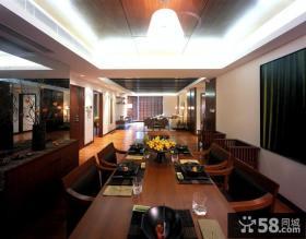 中式风格餐厅吊顶装修设计