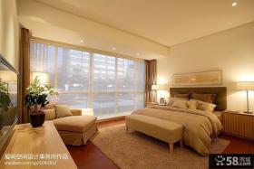 现代简约风格卧室阳台遮光窗帘效果图