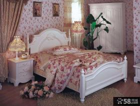 田园欧式卧室壁纸装修效果图