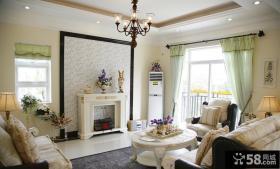 欧式风格小别墅客厅装修效果图片2014