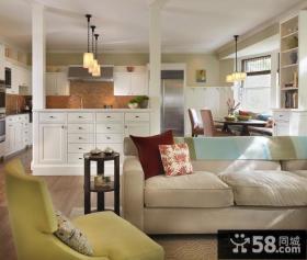 70平米小户型欧式客厅装修效果图大全