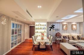 欧式70平米小户型客厅餐厅一体设计效果图
