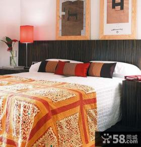 现代室内卧室床单贴图