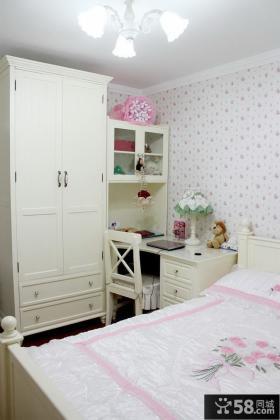 简欧式卧室家具摆放效果图